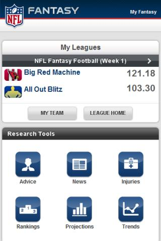 NFL.com Fantasy Football 2011 Android App Released