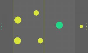 Olo - Aim to flick the yellow circles into the yellow lined area
