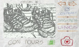 Paper Camera - In-app view, Con Tours