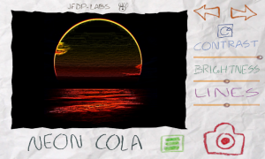 Paper Camera - In-app view, Neon Cola