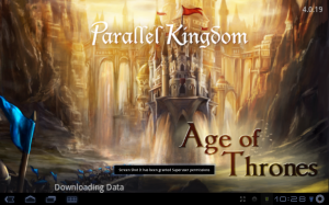 Parallel Kingdom Title Screen