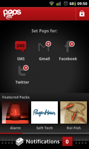 Pops - Configure screen