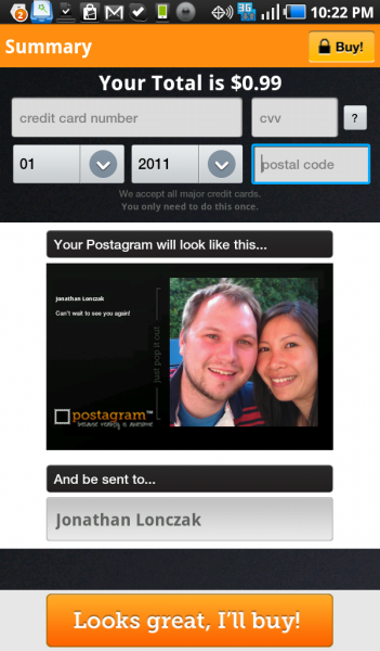 Postagram – an Extremely Easy to Use Personal Postcard Creator!
