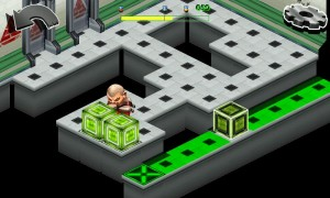 Psychoban - Get all the blocks onto the green crosses to complete the level and escape the room