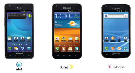 Samsung Galaxy S II Lands on AT&T, Sprint & T-Mobile… not Verizon