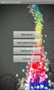 Spectrum Puzzle - Main Menu
