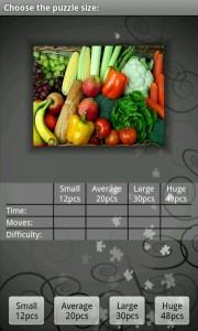 Spectrum Puzzle - Puzzle selection screen