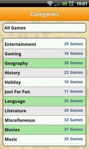 Sporcle - Categories