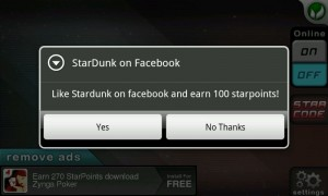 Stardunk - Earn points by liking on Facebook