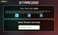 Stardunk - Starcodes allow you to play against friends
