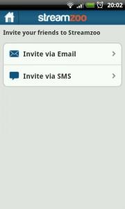 Streamzoo - Invite friends