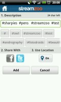 Streamzoo - The hashtags you use are saved for easy application later