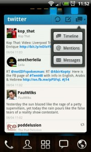 Twitter GOWidget - Let you easily view your Timeline, Mentions and Messages