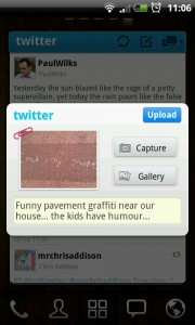 Twitter GOWidget - Post pictures