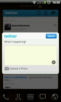 Twitter GOWidget - Post screen