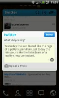 Twitter GOWidget - Post screen 2