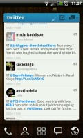 Twitter GOWidget - Timeline view
