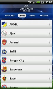 UEFA Champions League Edition - A-Z list of clubs