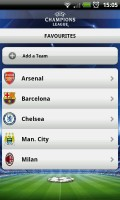 UEFA Champions League Edition - Favourites section