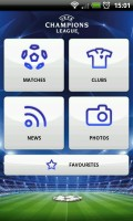 UEFA Champions League Edition - Menu