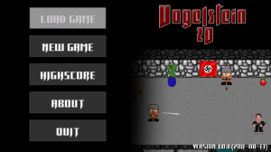 Vogelstein 2D Title Screen