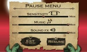 Zombie Rider - Pause Menu