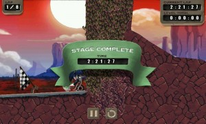 Zombie Rider - Stage Complete screen