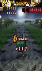 Zombie Runaway - Collect combos for extra points