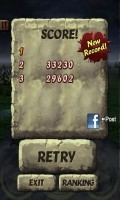 Zombie Runaway - Top 3 scores are held as your records