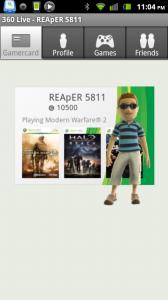 360 Live Gamercard