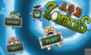 Age of Zombies - Main menu