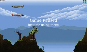 Air Attack - Game paused