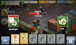 Crime Story - Adversaries health runs down as you fight