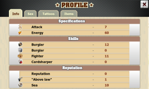 Crime Story - Personal profile