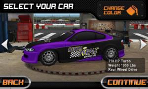 Drift Mania Championship - Car select