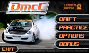 Drift Mania Championship - Main menu