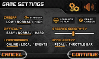Drift Mania Championship - Settings