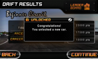 Drift Mania Championship - Unlocked a new car