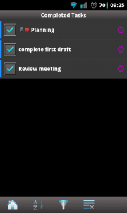 Due Today - Completed tasks
