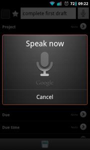 Due Today - Create tasks via voice input
