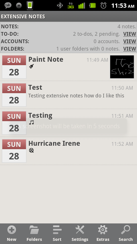 Extensive Notes – Feature Rich Note Taking Android App