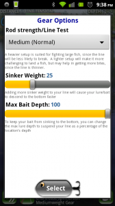 Fishing 2 Go Gear Options