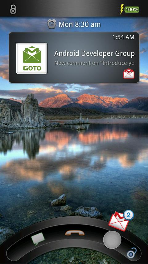 GOTO Lockscreen – Personalize Your Phone with Style plus Quick Access Email, Text, and Dialer