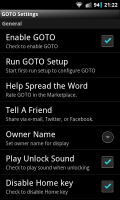 GOTO Lockscreen - Settings