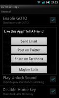 GOTO Lockscreen - Share options