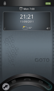 GOTO Lockscreen - With date and weather