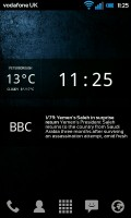 Glass Widgets - Clock and News widget on homescreen