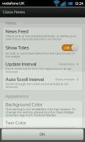 Glass Widgets - News configuration