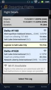 Hipmunk Flight Details