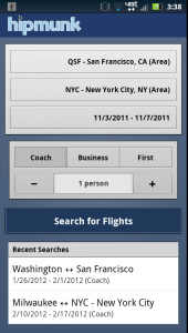 Hipmunk Flight Search